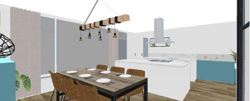 Eetkamer + keuken 3D