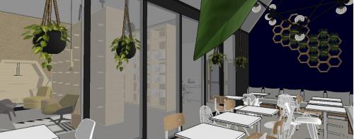 interieur, bibliotheek, 3D