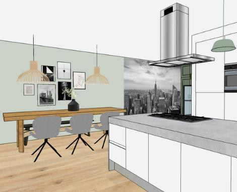 Interieurontwerp, keuken, interieur, interieurdesign Groningen, woonkamer, Zuidhorn