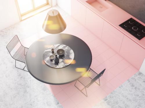 roze, keuken, roze keuken, interieurontwerp, interieuradvies, groningen, statement, vrouwelijk, stoer