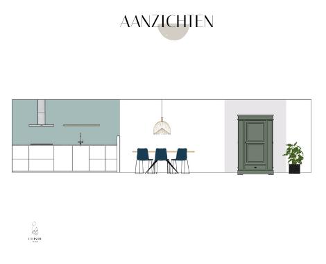 Palet, interieurontwerp, interieuradvies, interieurstyling, Groningen, collage, blauw, naturel, hout interieur, aanizchten, groen, blauw, stoer, licht