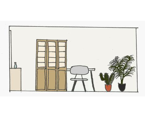 Doorsnede woonkamer