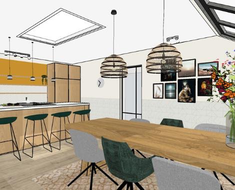 woonkeuken, interieurontwerp, natuurlijk, warm, vrolijk, licht, hout, opstelling, keukeninspiratie, keukenindeling, ditisdil, interieurontwerp, interieuradvies Groningen, duurzaam interieuradvies