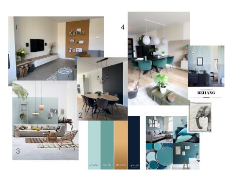 interieurontwerp Groningen, interieurdesign, moodboard, kleuradvies, blauw, petrol, kleurvlakken, interieuradvies, interieurstyling, ditisdil