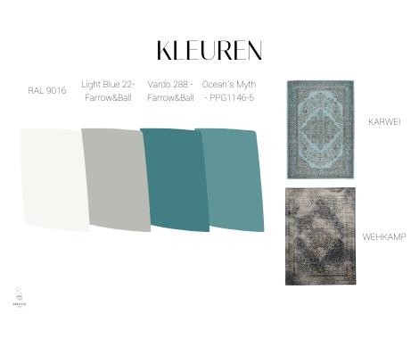 interieurontwerp Groningen, interieurdesign, moodboard, kleuradvies, blauw, petrol, kleurvlakken, interieuradvies, interieurstyling, ditisdil, kleuren, vloerkleden