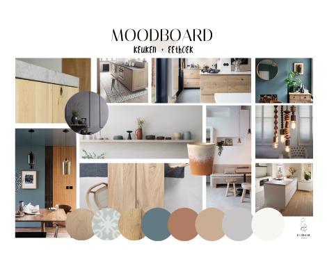moodboard, interieuradvies, Groningen, Haren, stijl, sfeer, woonkamer