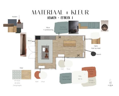 Materialen, kleuren, interieuradvies, uitwerking, Haren, Groningen, interieurstyling, styling