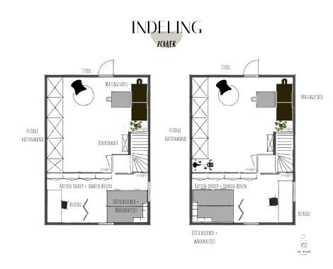 DITISDIL, interieurstyling, interieurontwerp, binnenhuisarchitect, indelingsoptie, indeling, plattegrond, zolder, DITISDIL