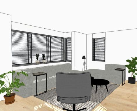Interieurontwerp, interieur, interieurdesign Groningen, woonkamer, Zuidhorn