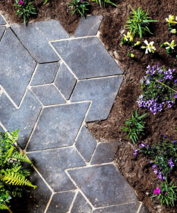 Studio Wae, duurzaam, duurzame tegels, circulair, tuin, buiten, Escher
