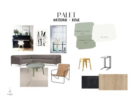 porftolio, 3D, interieuradvies, ditisdil, interieurontwerp, Groningen, groen, woonkamer, modern, basic, familiehuis, opbergen