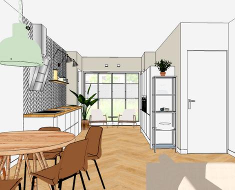 Eethoek + keuken